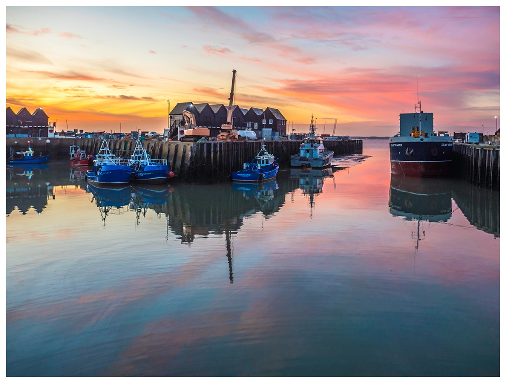 Sunset ripples, Whitstable Harbour