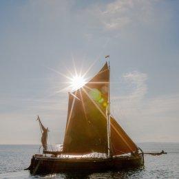 Sailing into sunrise