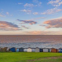 Tankerton Huts at dusk