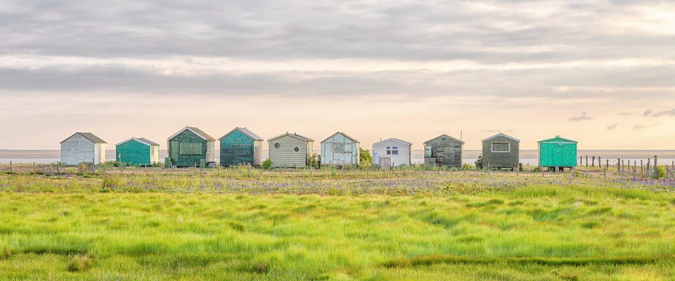 Sunrise and the Seasalter Huts