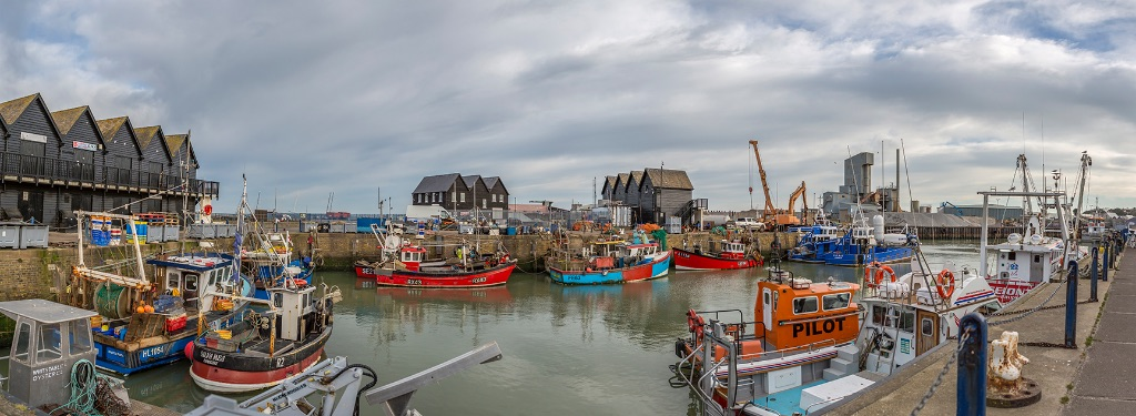 Whitstable Harbour panoramic