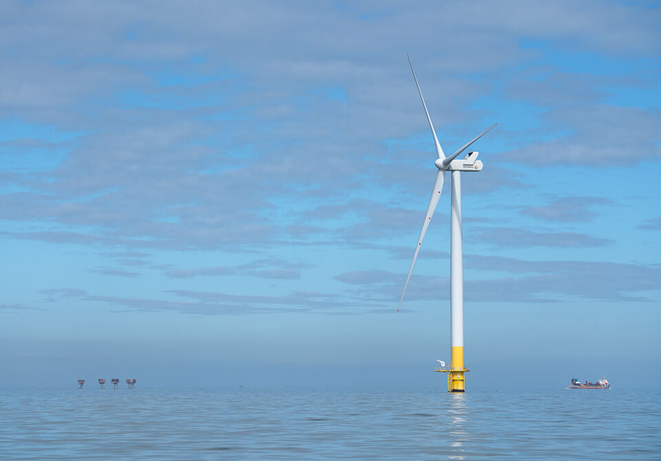 The wind farm and Shivering Sands Fort