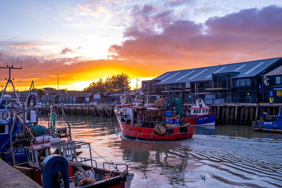 Red Sky Morning, Whitstable Harbour