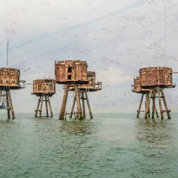 The Red Sands Forts with Chart