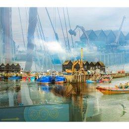 Summer harbour Whitstable