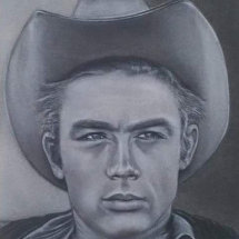 Drawing of Legend James Dean