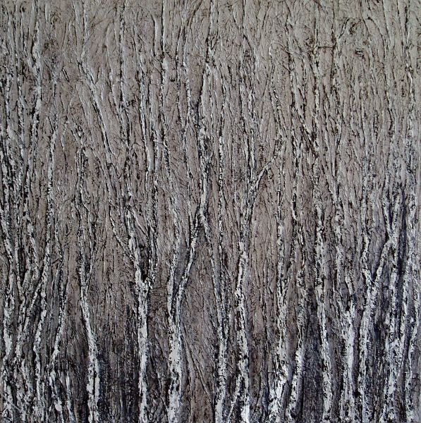 Stand of Birches  acrylic on canvas 100/100cm
