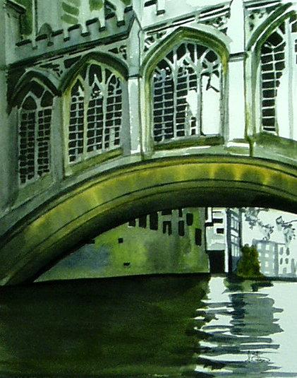 Bridge of Sighs  St John College  watercolour on paper