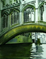 Bridge of Sighs  St John College  watercolour on paper
