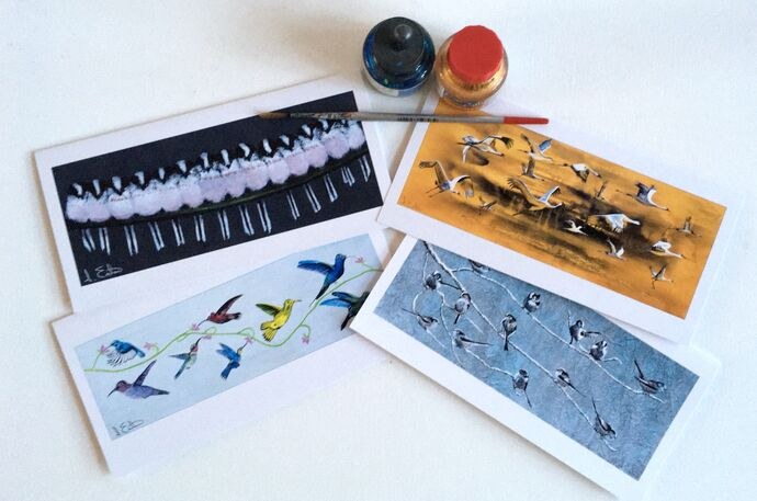 Beautiful Birds pack of 4 cards for the price of 3 £7.50