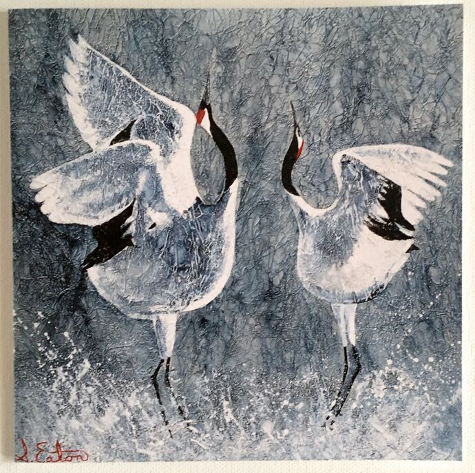 Courting Cranes single card £2.50
