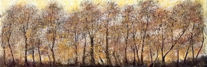 Golden Day acrylic ink on textured canvas 6' x 2'