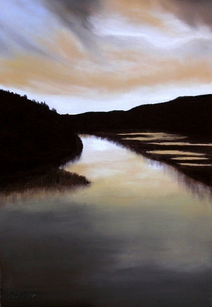 Light on the Loch  pastel on paper
