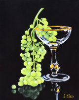 Murano Goblet and Grapes