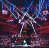 Rule, Britannia! Royal Albert Hall  Pastel on velour