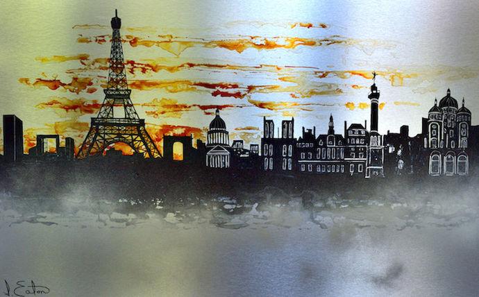 Paris Panorama 120 x 80 cms