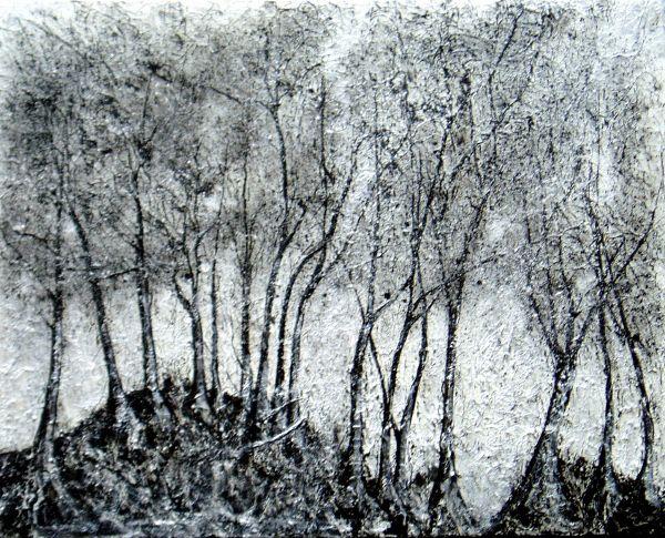 Silver Knoll  acrylic on canvas