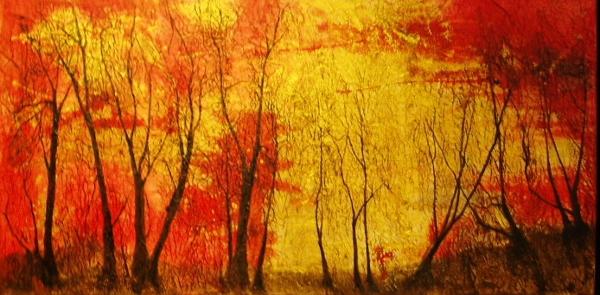 Tree Tracery Acrylic on canvas