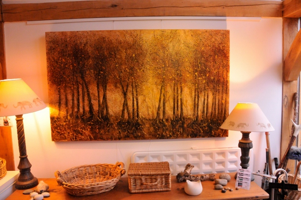 Forest of Gold  Acrylic on canvas in situ