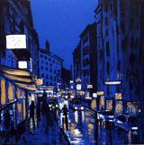 City Lights  acrylic on card