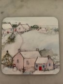 Winter cottages coaster