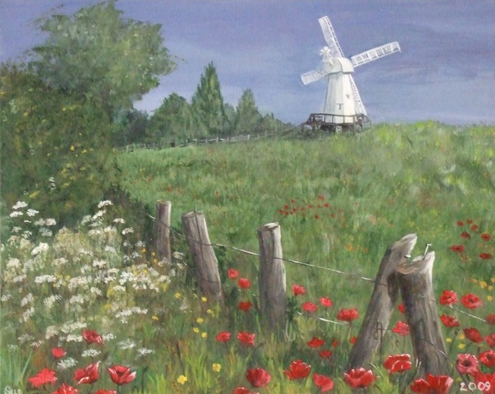 Windmill amongst the poppies