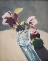 Still life with hellebores