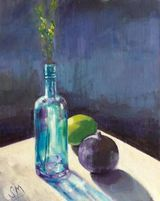 Still life with lime & fig
