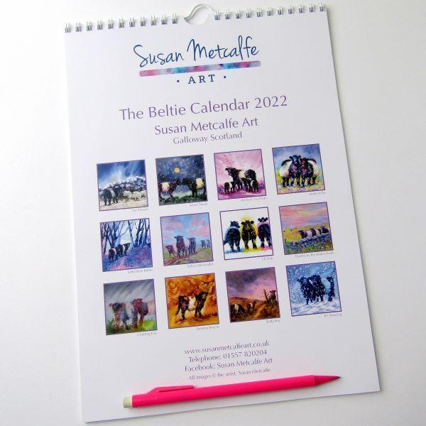 Beltie calendar with images