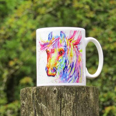 Horse head colourful Mug