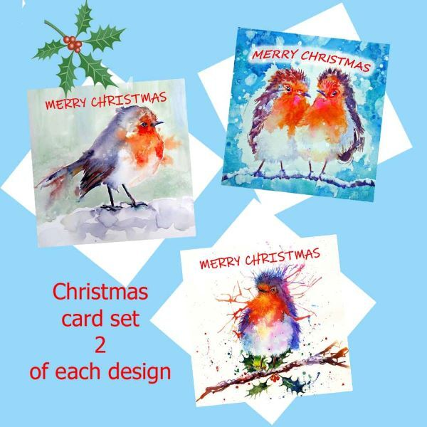 Robin-christmas-card-set