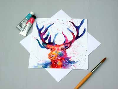 "Square card ""The Stag"""