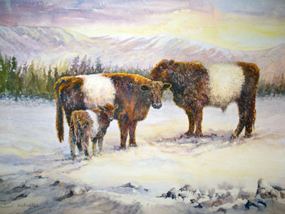 "Beltie Family <font color=""red"">SOLD</font>"