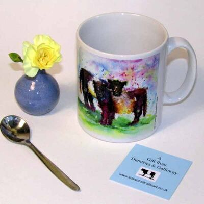 Belted Galloway Cow ceramic mug