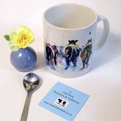 Belted Galloway Cow ceramic mug