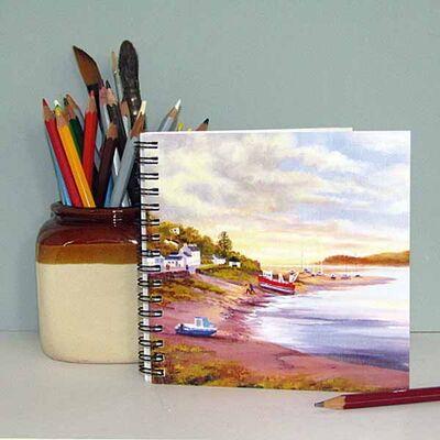 Notebook with Scottish Scene