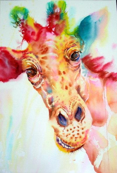The laughing Giraffe