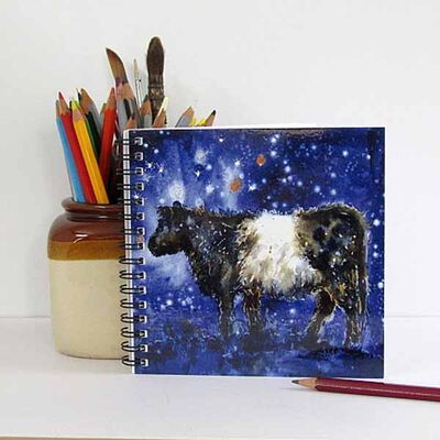 Belted Galloway cow notebook