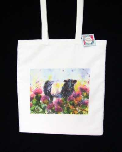 Shopping bag featuring Thistle Patch