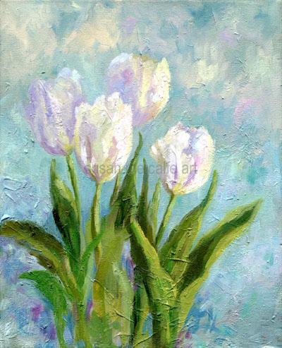white_tulips