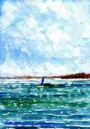 A Shout of Sail - From an Original  Watercolour Painting