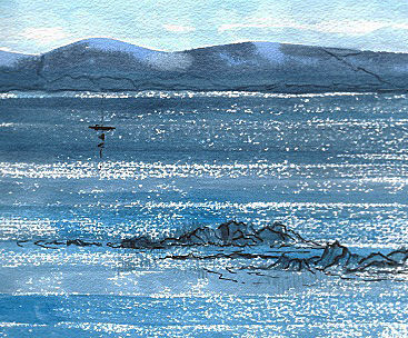 A Silence of Blue - From an Original Watercolour painting