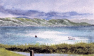 From a window - From an original Watercolour Painting