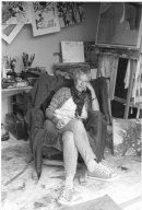 In my studio - copyright Graham Murrell