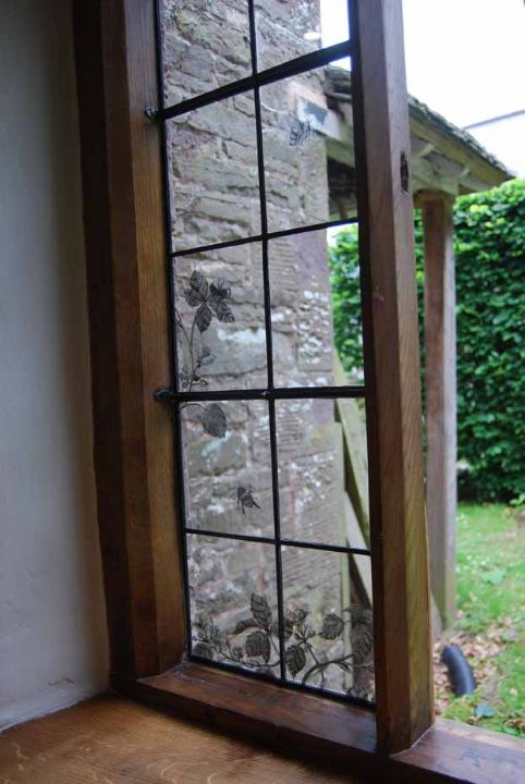 The restored kitchen window from the inside.