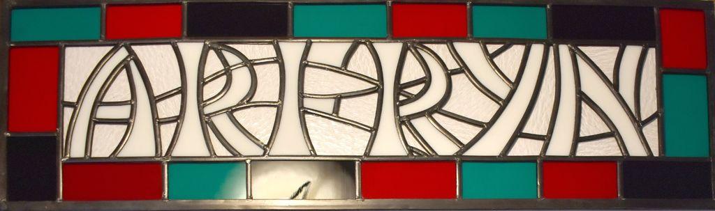 A house name panel.