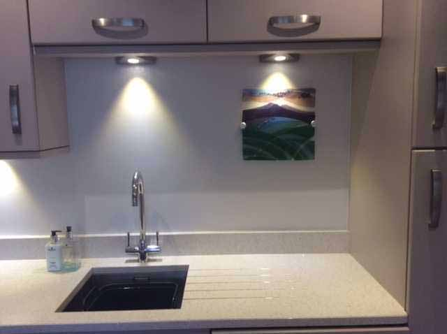 Cherry's piece in situ, perfect for a kitchen.