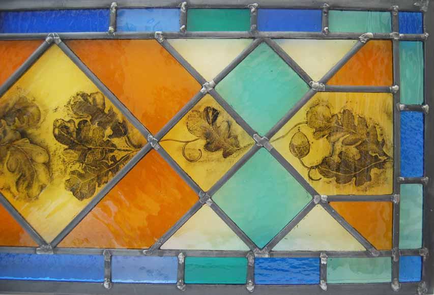 Close up of panel above door