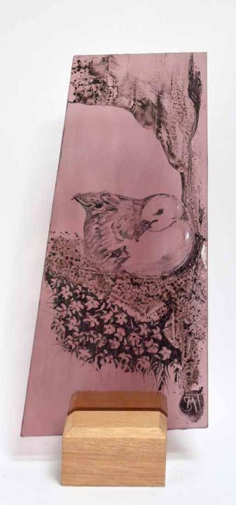 Fulmer roosting on pink
