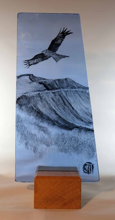 Kite over Pen y Fan on Blue SOLD
